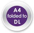 A4 folded to DL